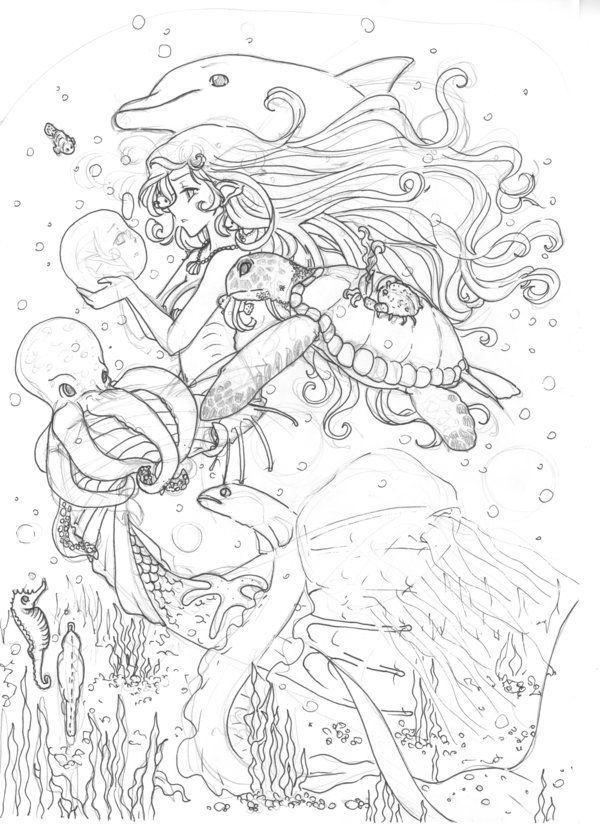 Pin de Pam Musheno en Coloring - Seashells & Sea life | Pinterest ...