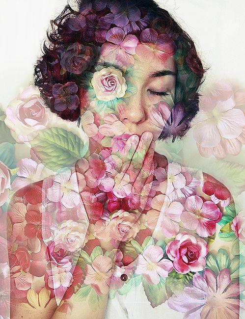 self-portrait/ photo montage by Rachael Koscica