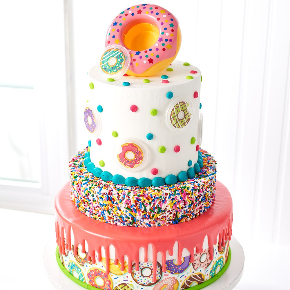 Donut Decoset Stacked Cake Design Decopac Cake How To Stack Cakes Themed Cakes