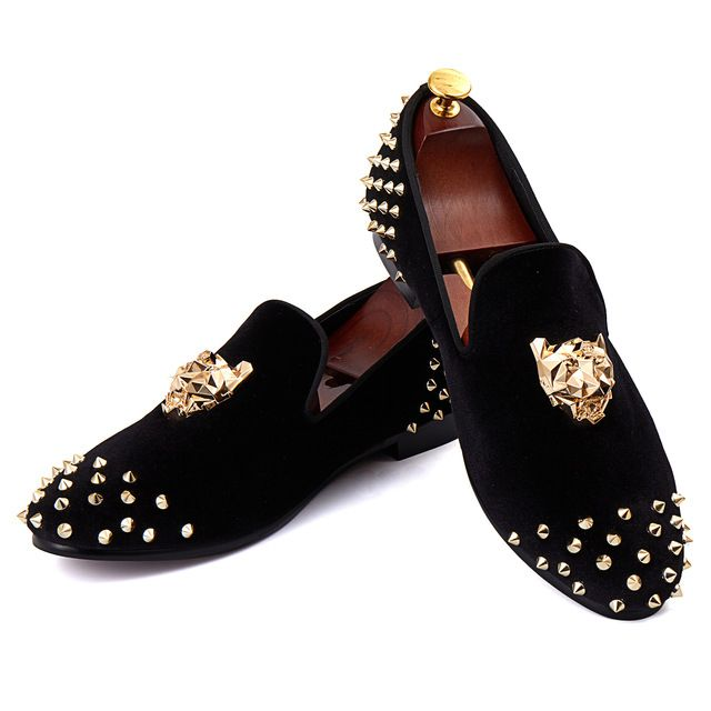 Women's Fashion Penny Loafers Shoes - Pointed Toe Rivet Buckle Slip-On Flat Dress Shoes