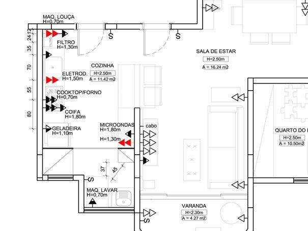 planta_eletrica | montando a casa - medidas e modelos | Pinterest