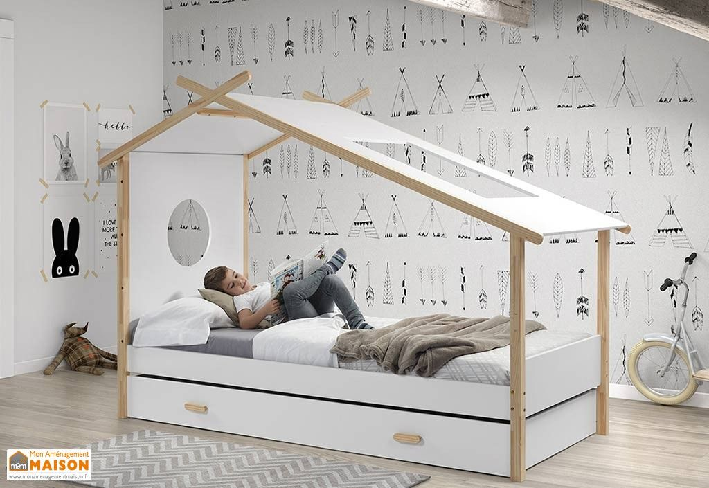 lit enfant cabane tipi et lit gigogne en pin massif et mdf. Black Bedroom Furniture Sets. Home Design Ideas