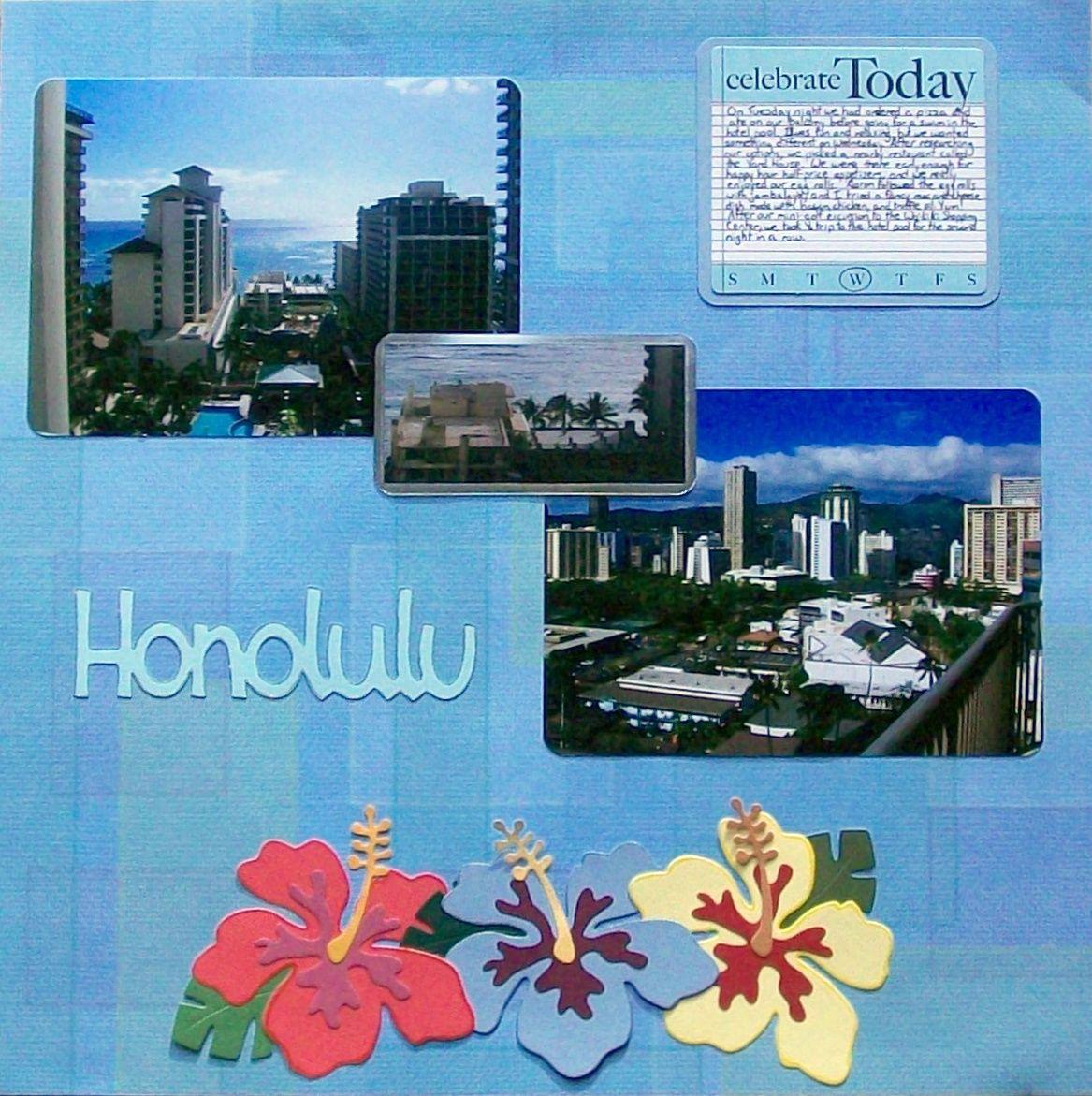 Scrapbook ideas hawaii - Hawaii 2010 Page 14 Honolulu Scrapbook Com