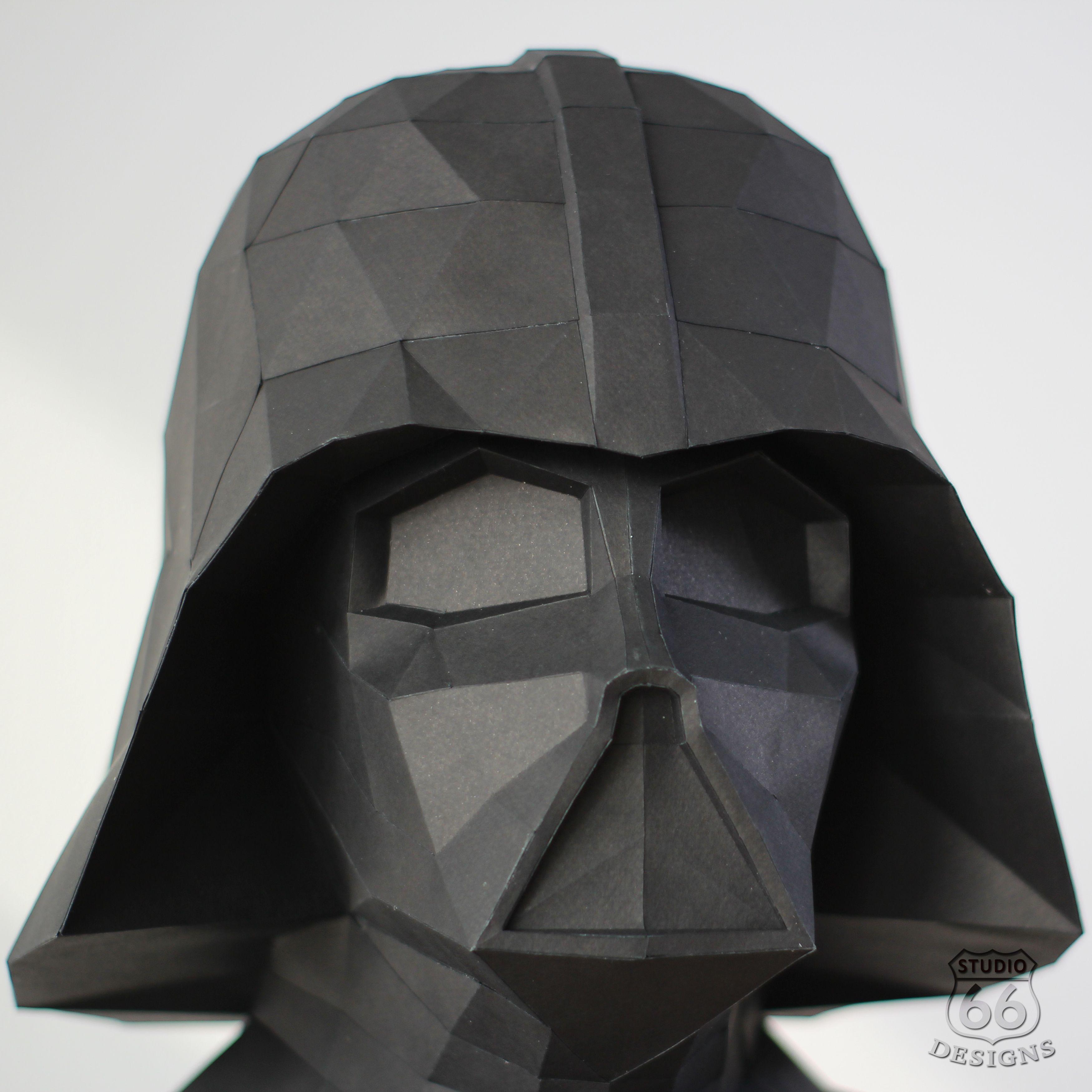 Papercraft Star Wars Make Your Own Darth Vader Statue Papercraft Darth Vader Paper Statue Home Decor 3d Papercraft Diy Pdf Pattern Darth Vader Statue Darth Vader Paper Crafts