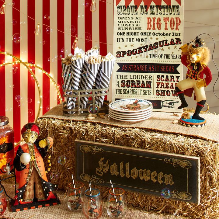 Cute Halloween circus indoor decor. Wall decor.