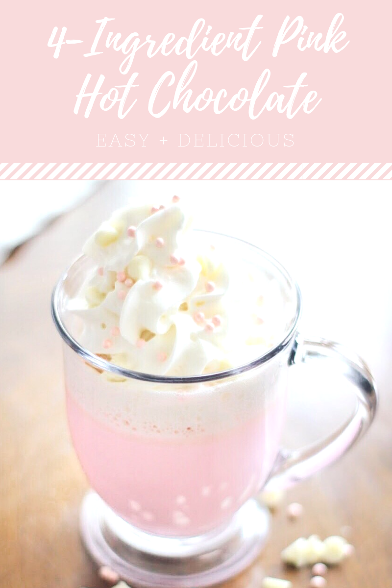 Pink White Hot Chocolate #hotchocolatebar