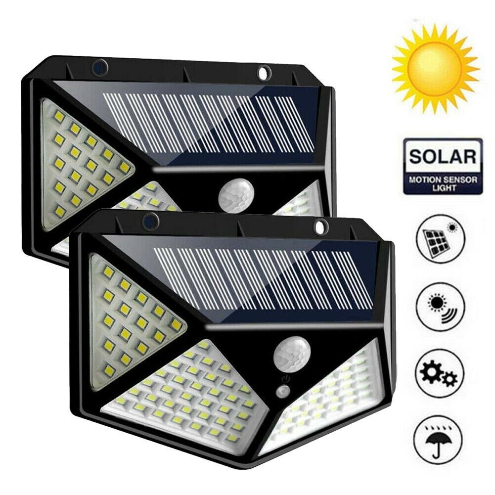 1-4Packs LED Solar Light Motion Sensor Wall Light Outdoor Garden Yard Lamp USA