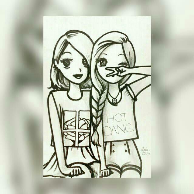 Yo Y Mi Hermana Juntas Por Siempre Dibujos Kawaii Dibujos Para