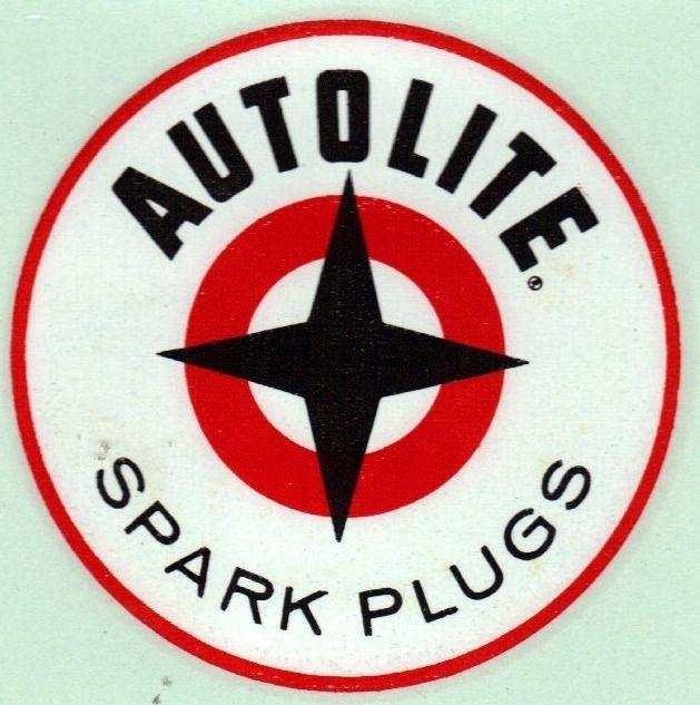 Original Vintage Autolite Spark Plug Decal Rat Hot Rod Drag Racing Gasser Old Vintage Hot Rod Vinyl Decal Stickers Racing Stickers