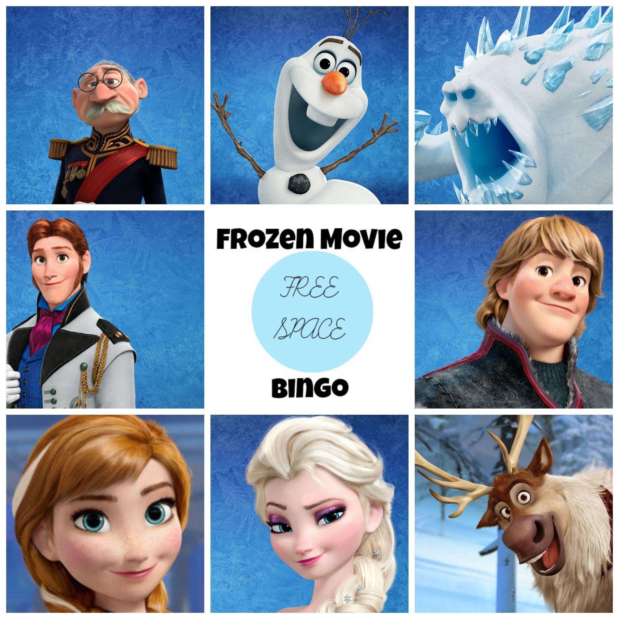 Frozen DVD Free Frozen Movie Bingo Game Printable