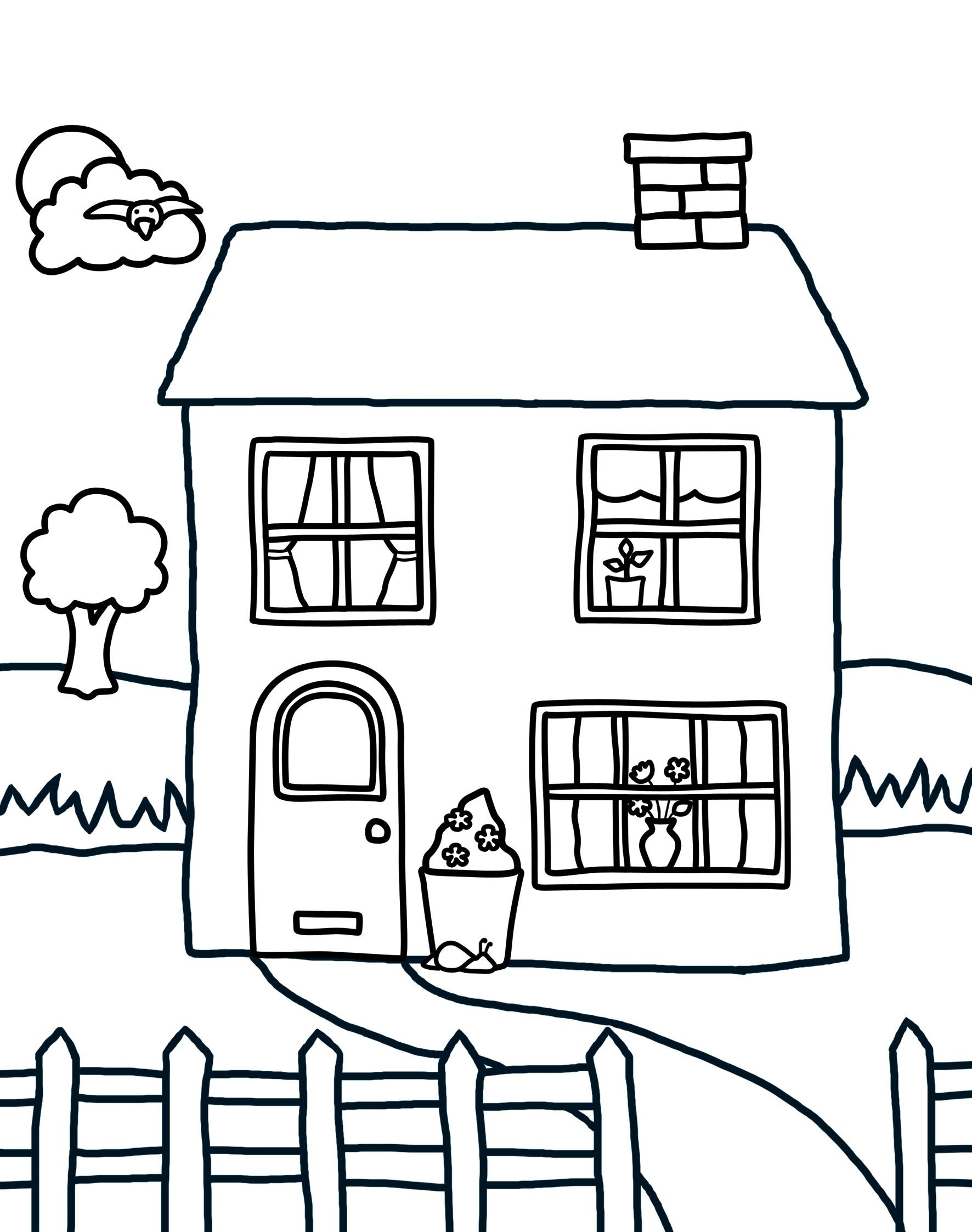 Home Coloring Pages Download And Print Colouring At Priddy