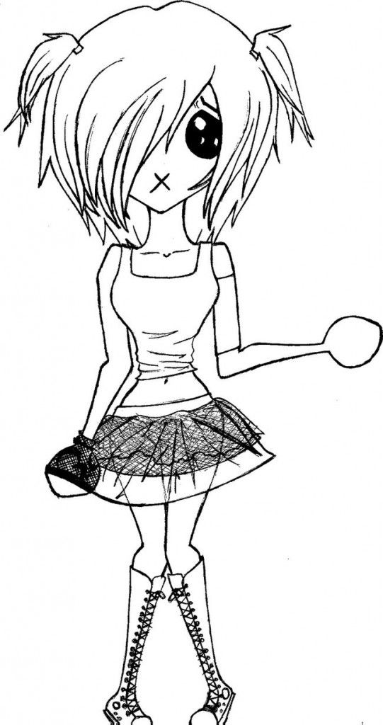 Free Printable Emo Coloring Pages For Kids | Cartoon Coloring Pages ...