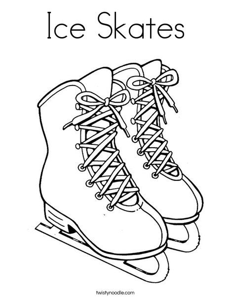 Ice Skates Coloring Page Coloring Pages Free Printable Coloring Pages Ice Skating