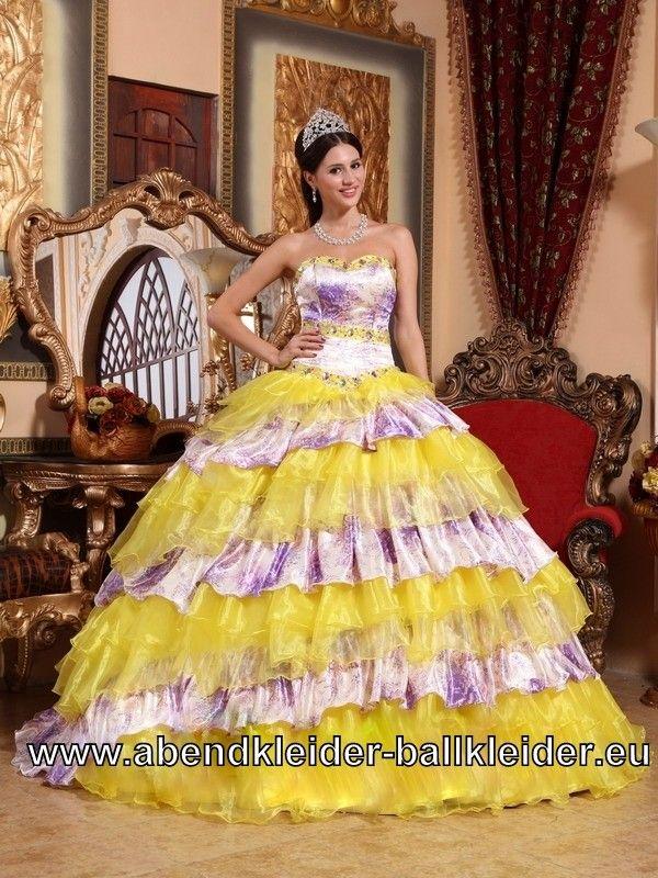 Buntes Sissi Kleid Wolumen Abendkleid Ballkleid Online | dresses ...