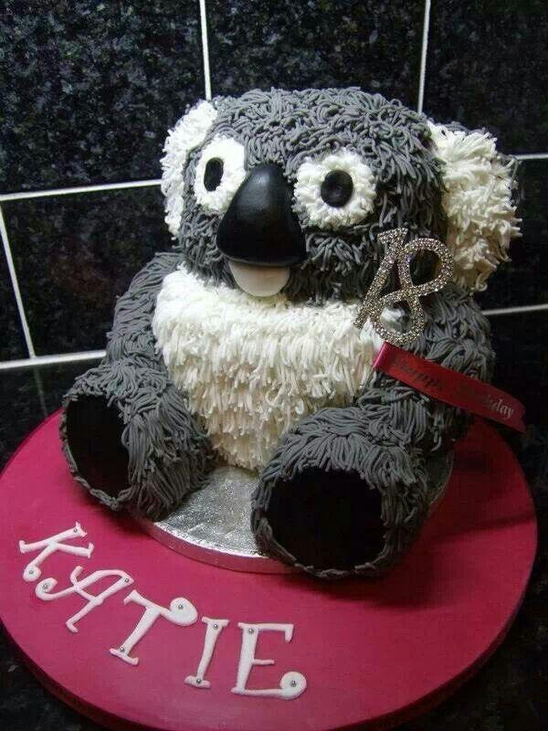 Groovy Koala Bear Cake Koala Bear Koala Cake Creations Funny Birthday Cards Online Hetedamsfinfo
