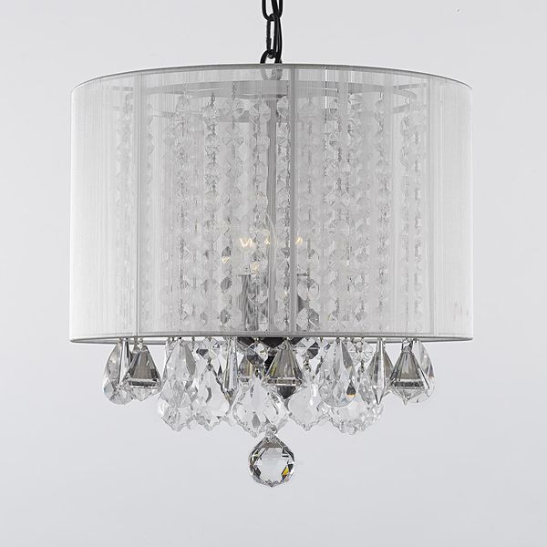 Gallery 3 Light Crystal Chandelier With Shade Ping Great Deals On Chandeliers Pendants
