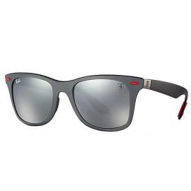 fd8e962ea8f Ray Ban RB4195M Scuderia Ferrari Collection sunglasses – Grey  Black Frame    Grey Mirror Lens