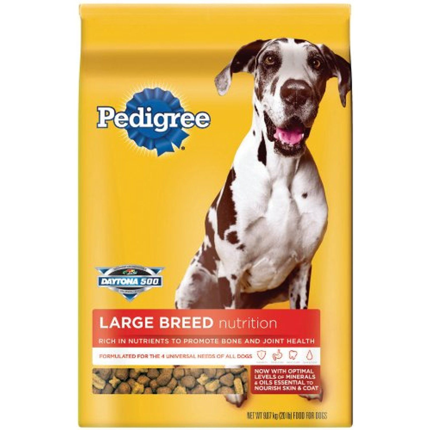 Pedigree 20 lb large breed food for adult dogs if you