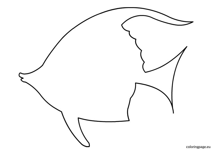Fish Outline Coloring Pages