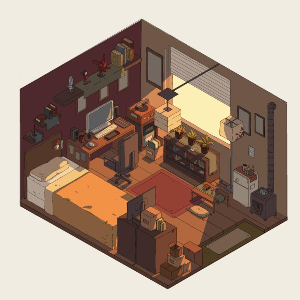 Aesthetic Pixel Art Bedroom