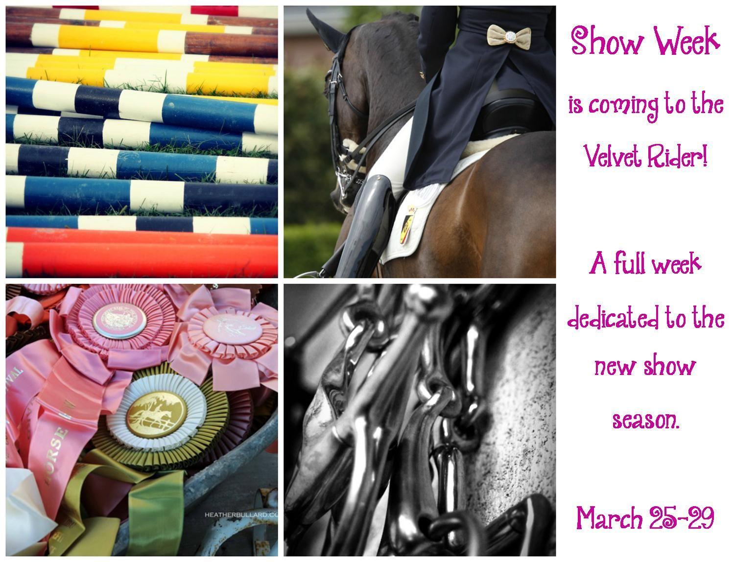 Horse Show Week on the Velvet Rider!