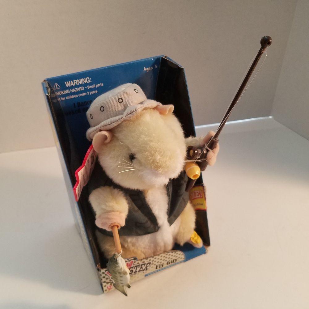 Gemmy Dancing Hamster Billy Bass Fly Guy Fishing Plush New