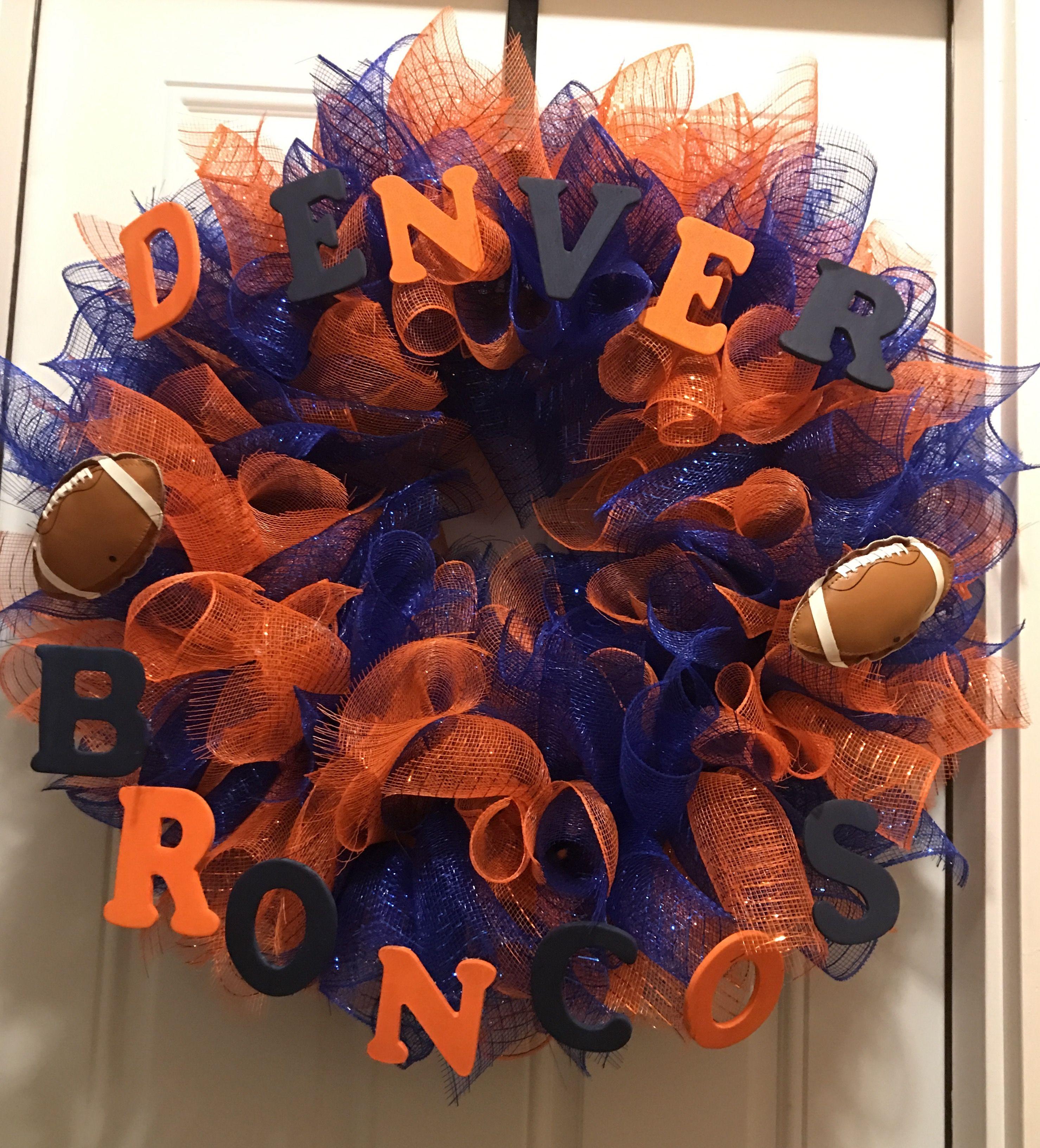 Denver Broncos wreath made by me