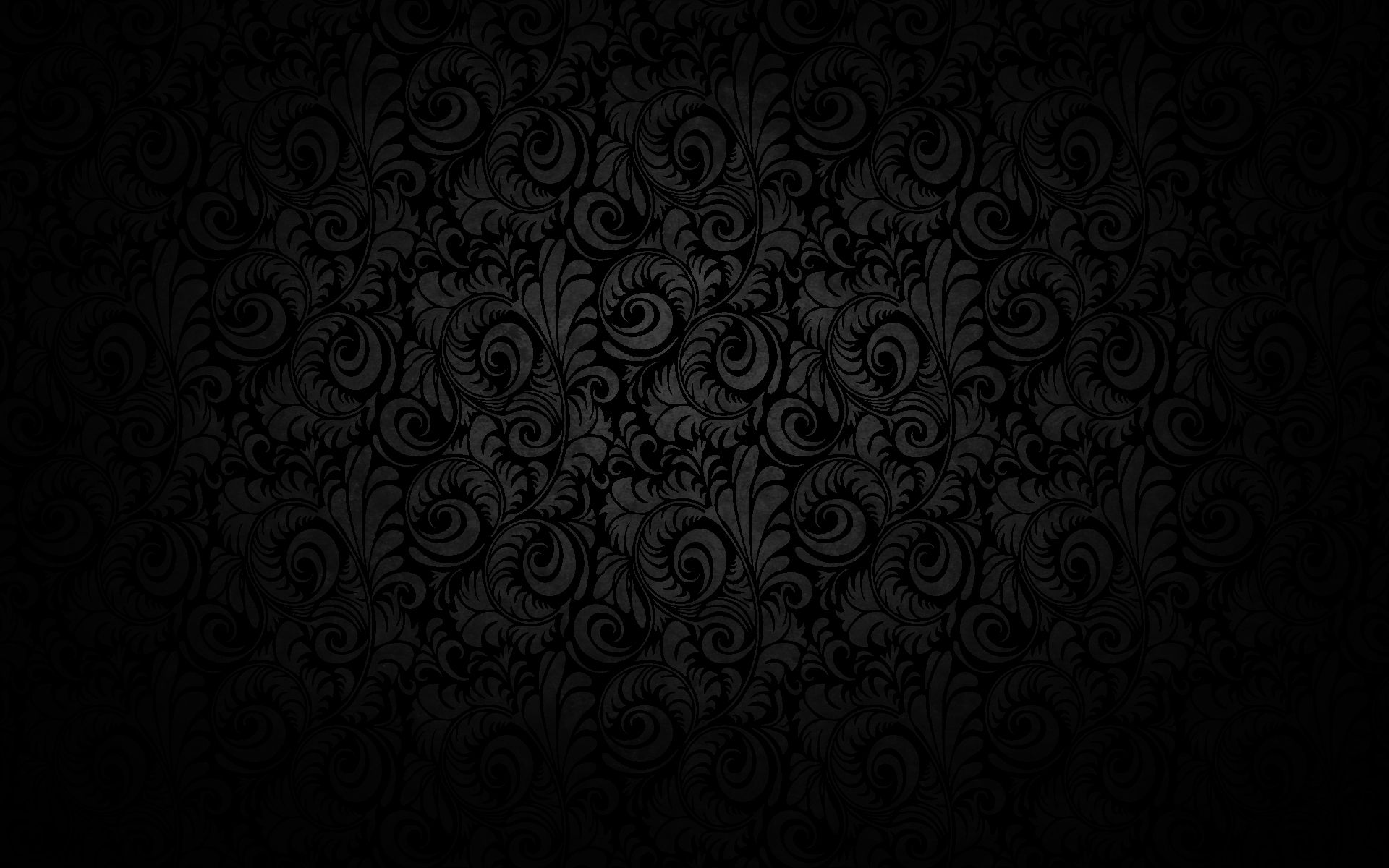 Black Floral Texture Pattern Design Wallpaper 1920x1200