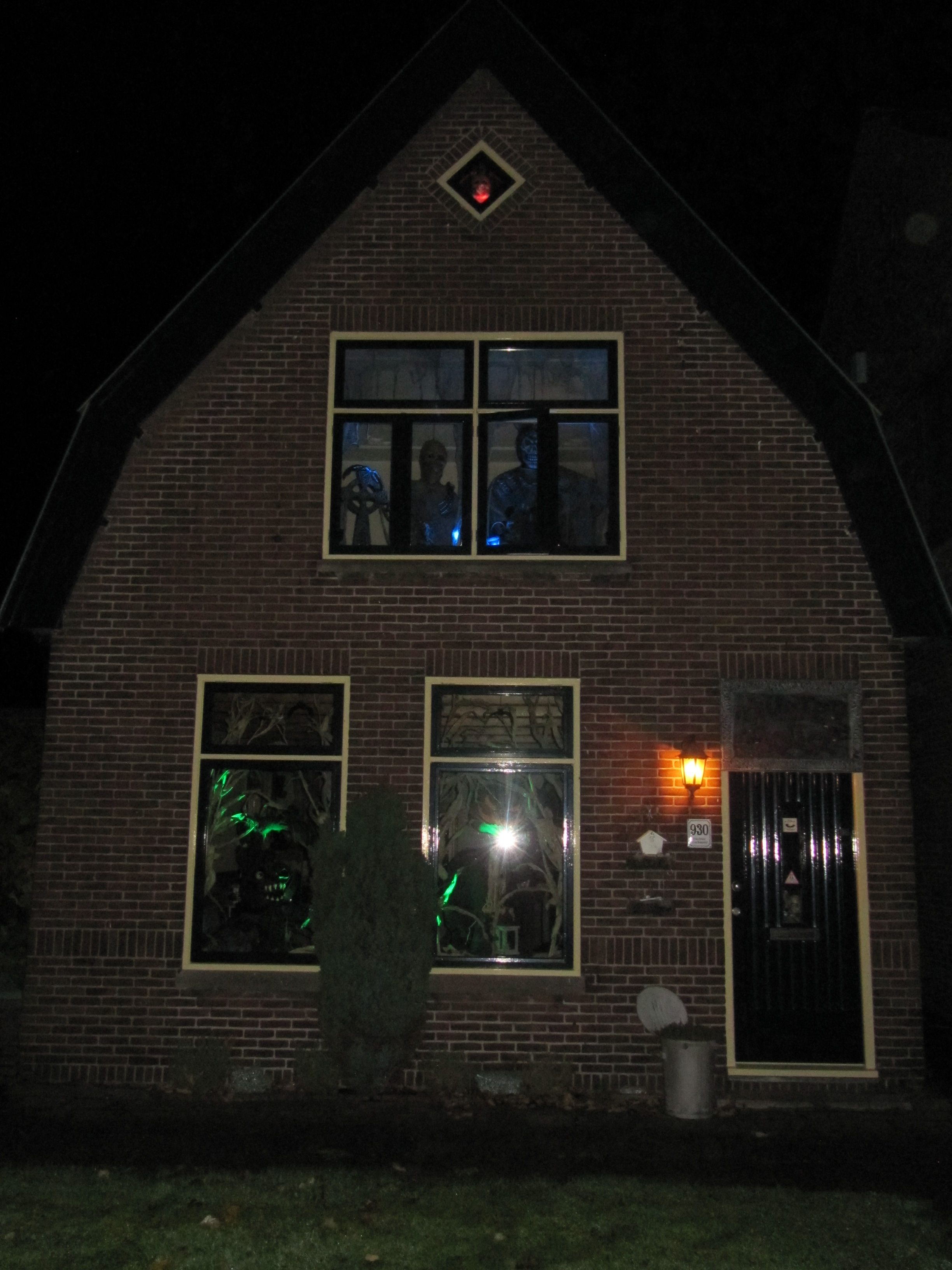 Our own Haunted House, decorated with homemade Halloween props - Homemade Halloween Decorations