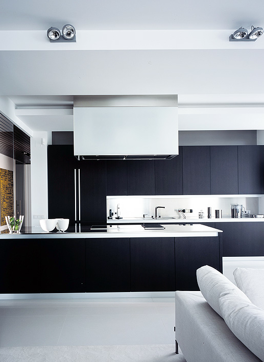 Minimalist kitchen-lounge area in Moscow by studio UB ...