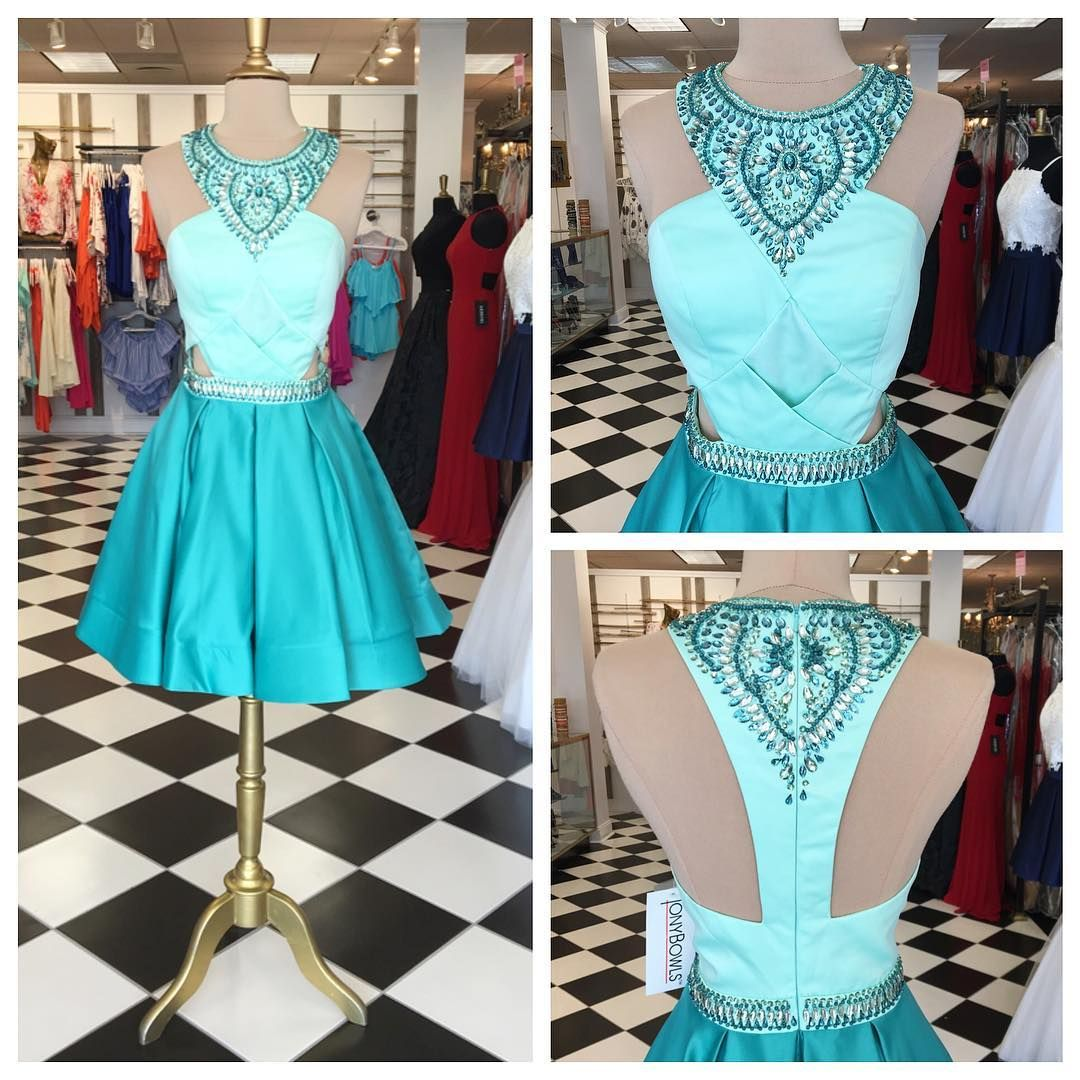 Beads Short Green Short 2017 Prom Dress Homecoming Dress | FABULOUS ...