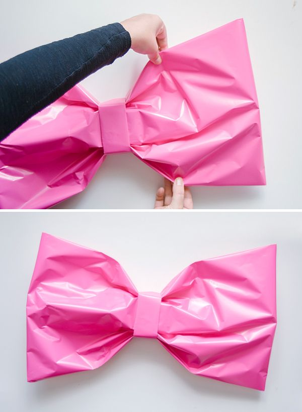 diy giant bow gift wrap tutorial oh happy day