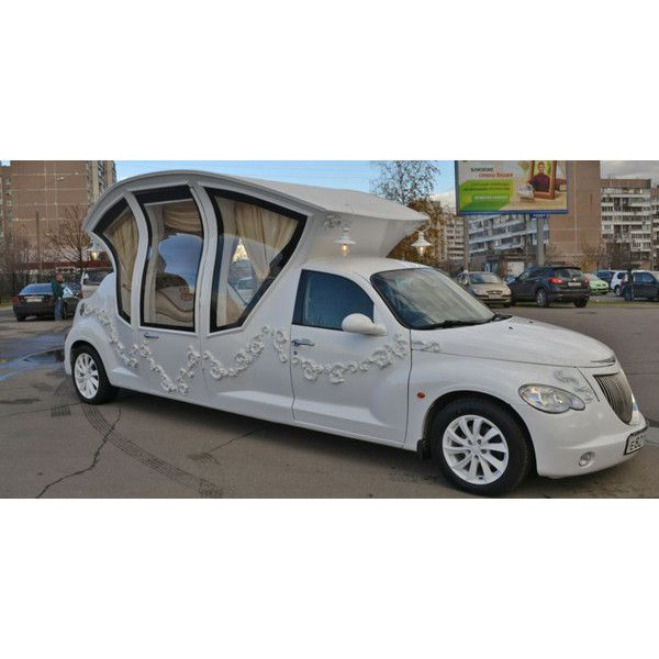 This Russian PT Cruiser Wedding Limo Is The Worst Thing Ever ❤ liked on Polyvore featuring home and home decor