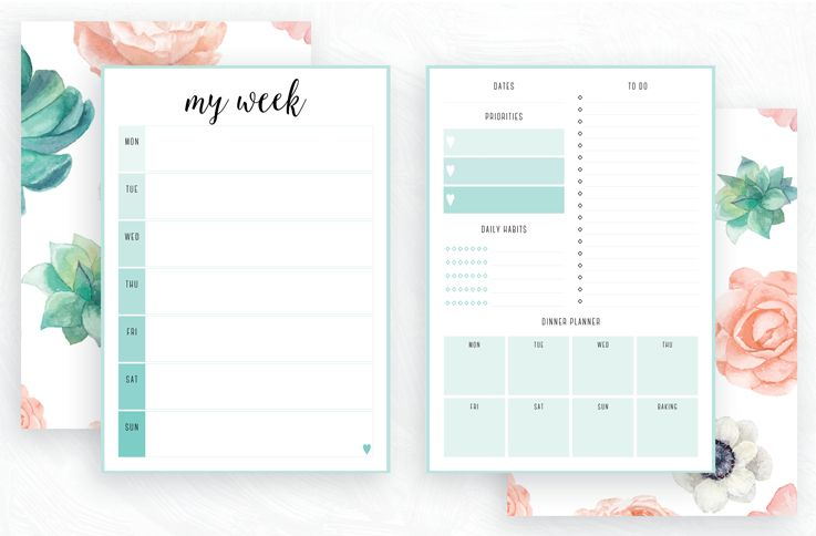 free printable irma weekly planners by eliza ellis