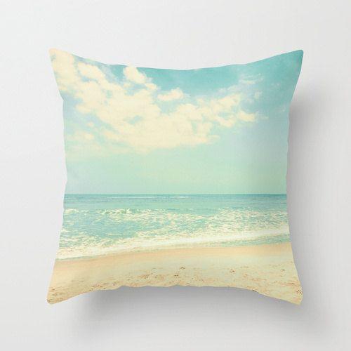 SALE Pillow cover beach pillow beach art mint by CarolineMint