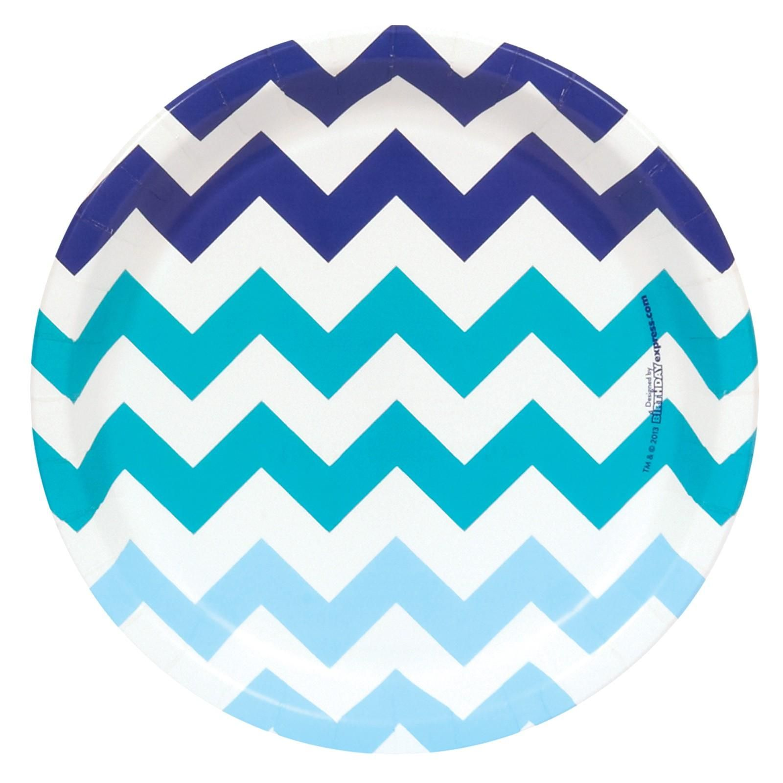 Chevron Blue Dinner Plates  sc 1 st  Pinterest & Chevron Blue Dinner Plates | Bar mitzvah and Birthdays