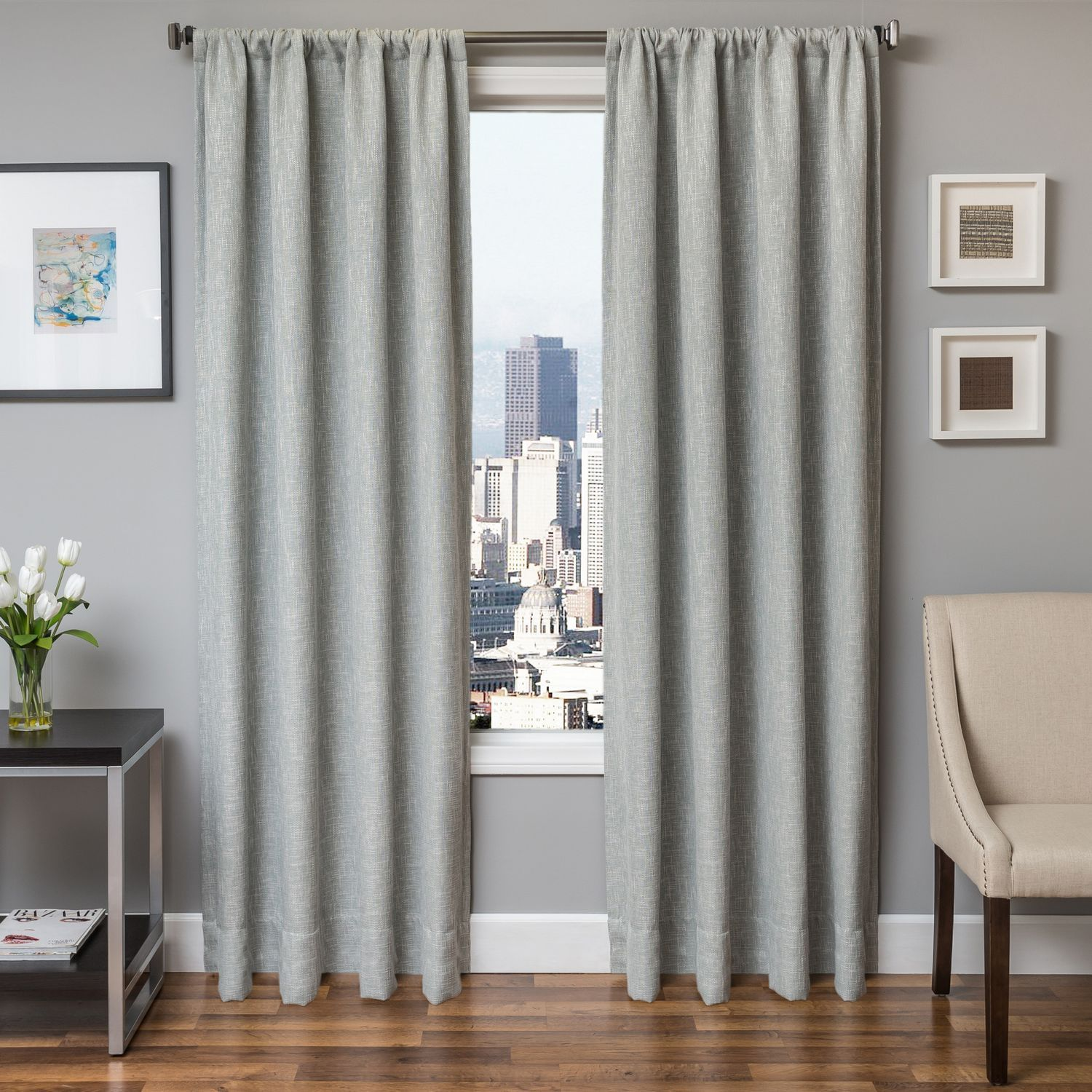 Softline Home Fashions Drapery Breda Swatch Set Rod Pocket Curtains Panel Curtains Classic Curtains