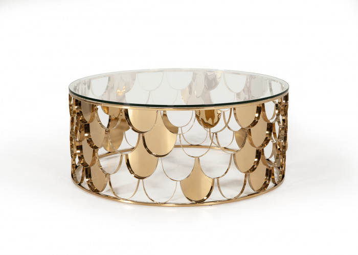 Modern Gl Gold Round Coffee Table