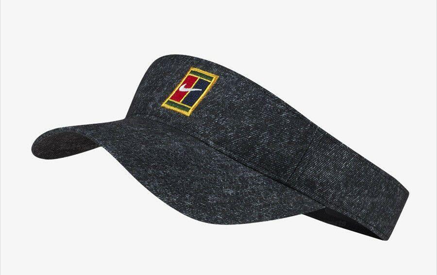 Nike Court Aerobill Heritage 86 Tennis Visor Hat Cap Badminton Black Av7000 010 Nike Visor Visor Hats Visor Nike