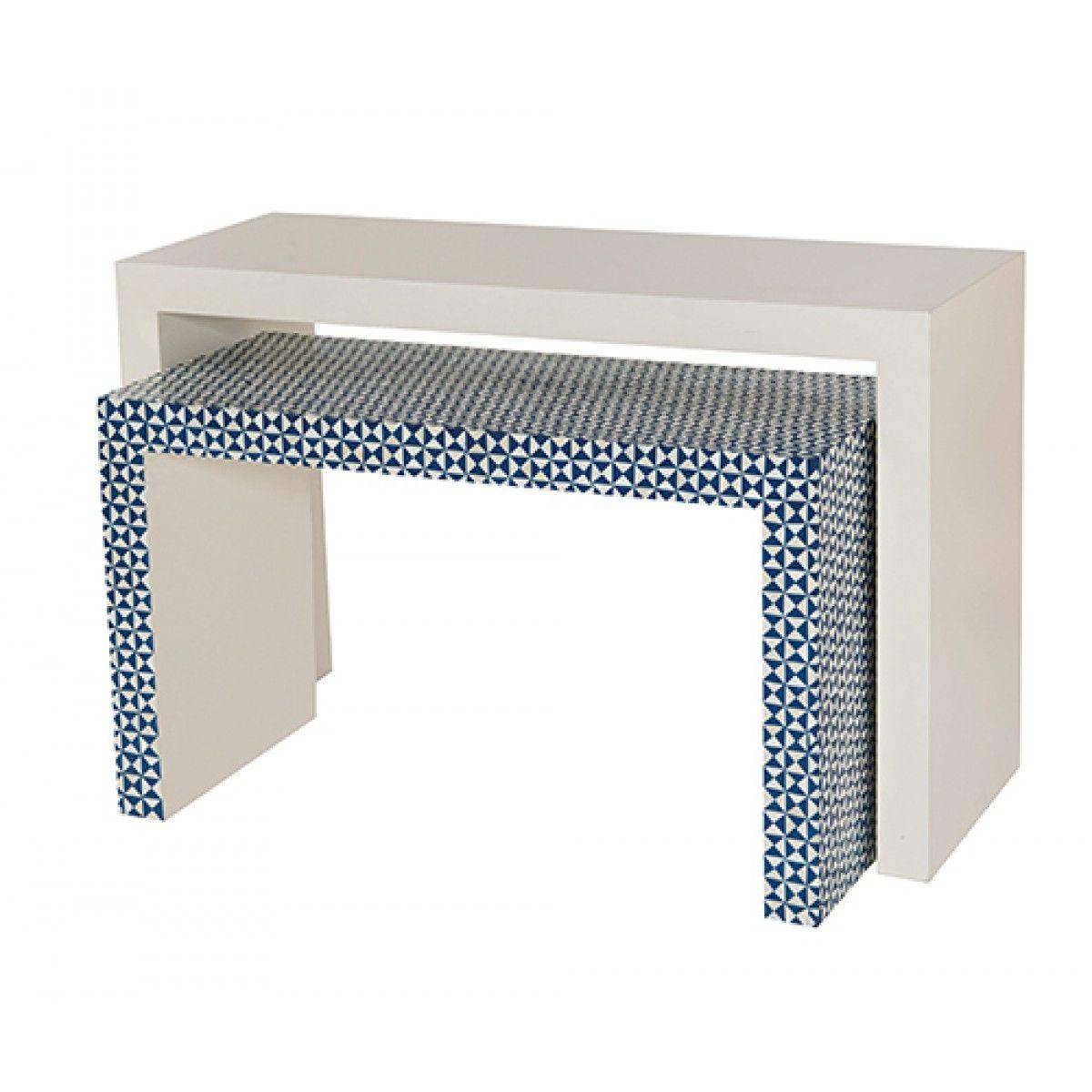 Bernhardt Interiors Ankara Nesting Console Tables