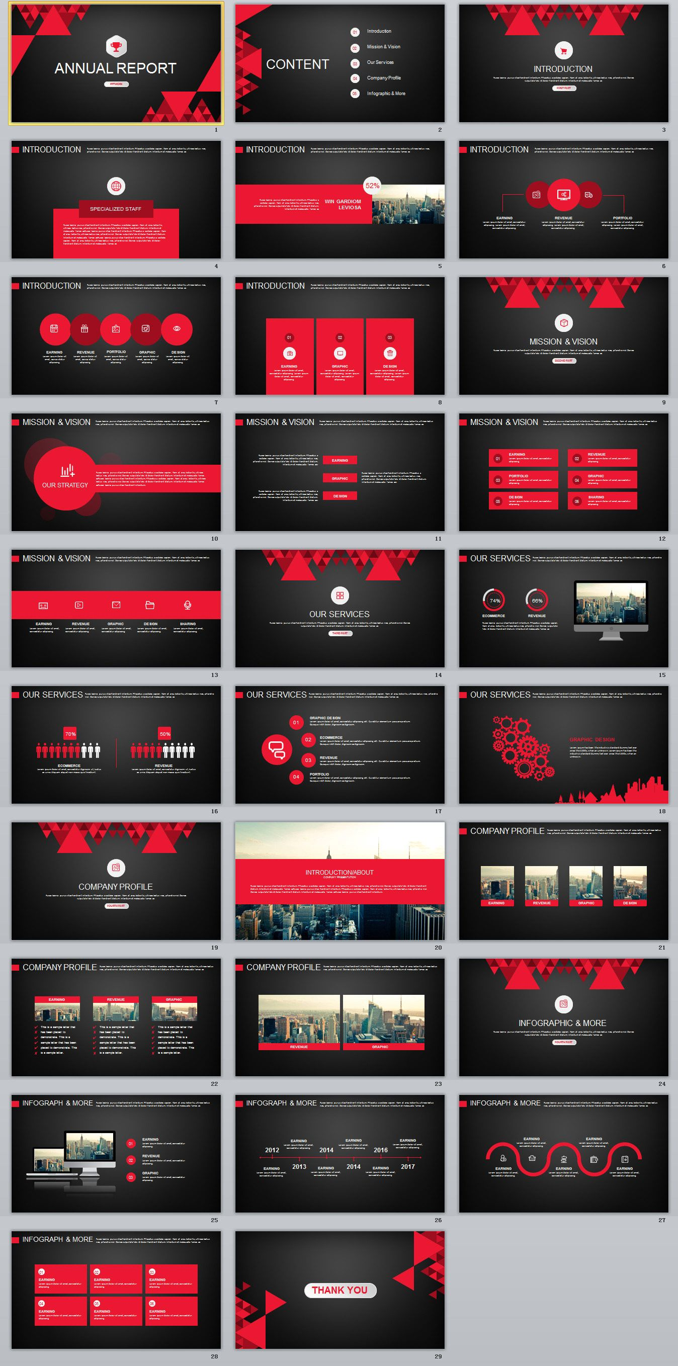 29 Red Black Work Summary Powerpoint Templates On Behance