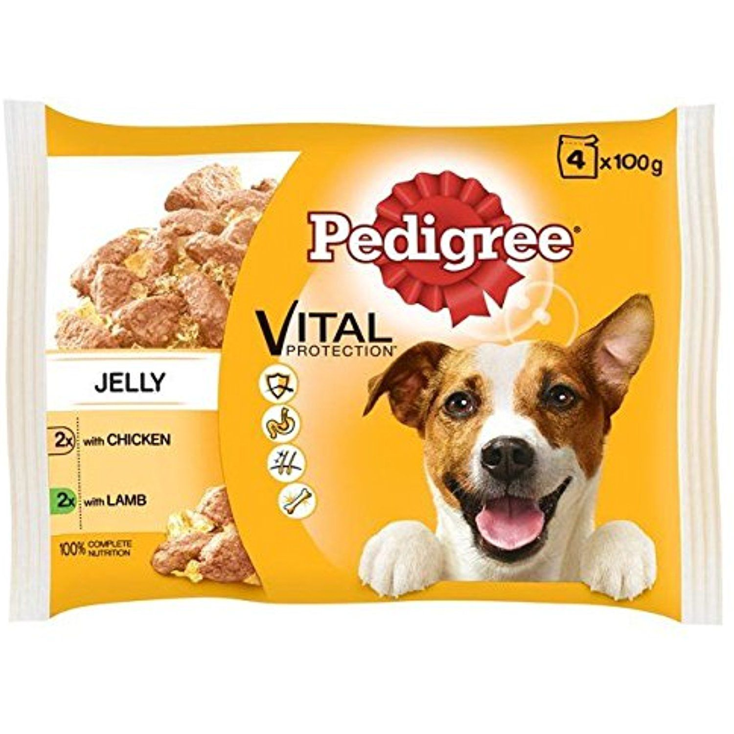 Pedigree Dog Pouch Chicken Lamb In Jelly 4 X 100g For You To