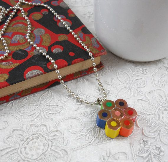 Colored Pencil Necklace - Necklace - Beaded Necklace ...