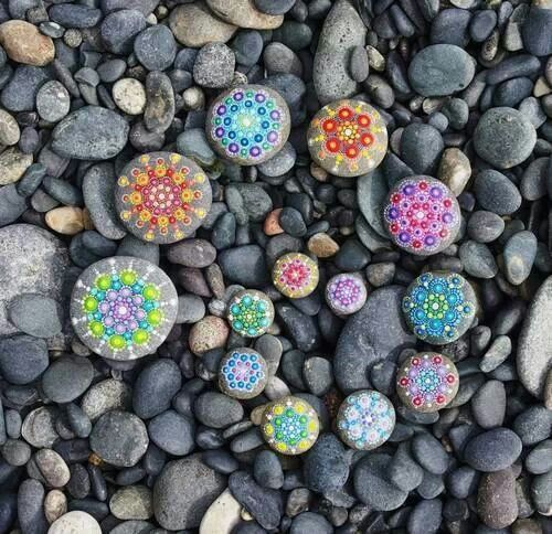 Painted stones
