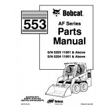 Bobcat 553 AF-Series Skid Steer Parts Manual PDF
