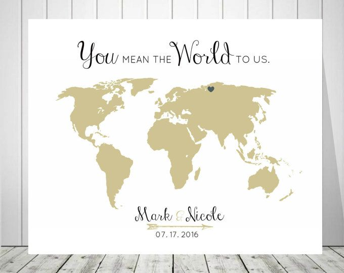 World map wedding guest book you mean the world to us 20x30 world map wedding guest book you mean the world to us 20x30 24x36 18x24 printable muslin swaddle blanketswaddling gumiabroncs Images