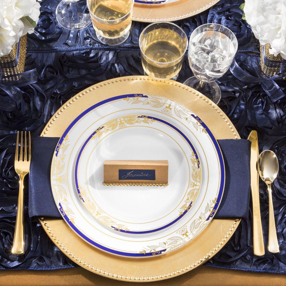 Bulk Dinner Wedding Party Disposable Plastic Plates 7 10