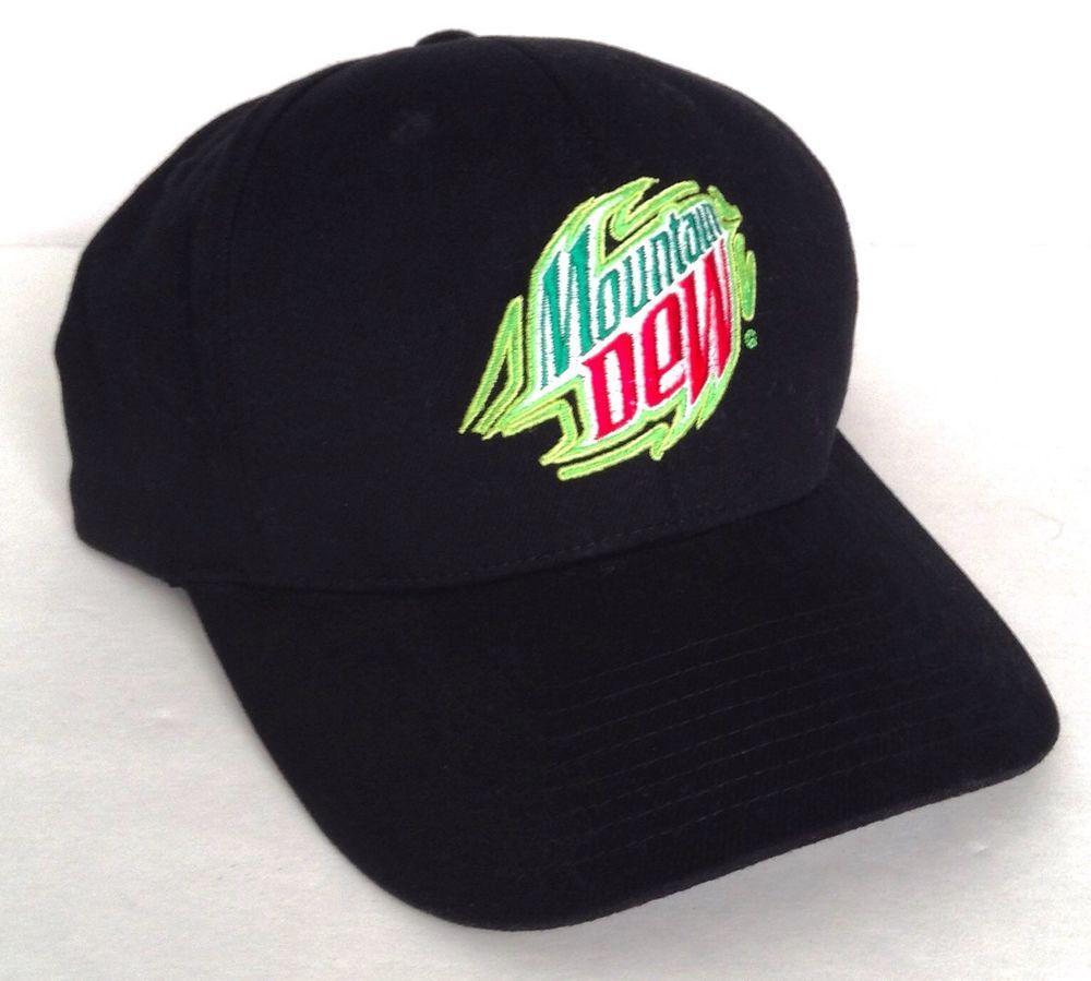 Mens Designer Trucker Hat Mountain-Dew-Drink-Logo Adjustable dad Cap