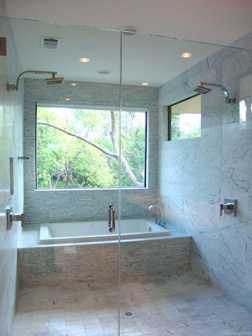 Adorable 55 Beautiful Bathroom Remodel Ideas Https Roomaholic Com 5643 55 Beautiful Bathroom R Bathroom Tub Shower Combo Bathroom Tub Shower Window In Shower