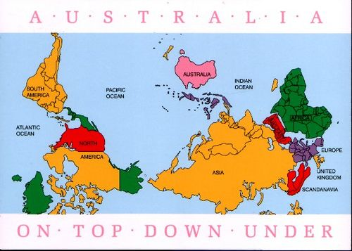 This is what it would look like if australia was not down under australias point of view this is what it would look like if australia was not down under gumiabroncs Choice Image